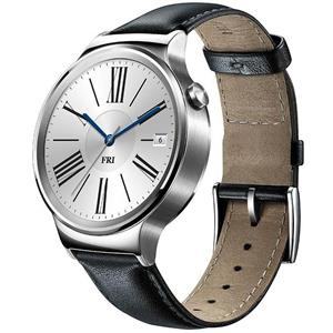 Huawei Watch Steel Case with Black Leather Band Smart Watch